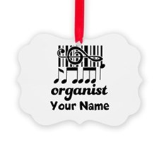 Personalized Organist Ornament