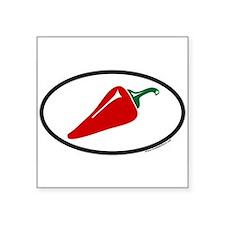Hot Pepper Euro Oval Sticker