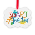 SmART Art Teacher Picture Ornament