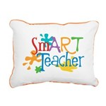 SmART Art Teacher Rectangular Canvas Pillow