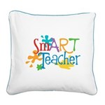 SmART Art Teacher Square Canvas Pillow