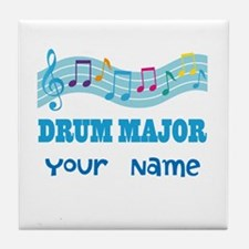 Personalized Drum Major Tile Coaster