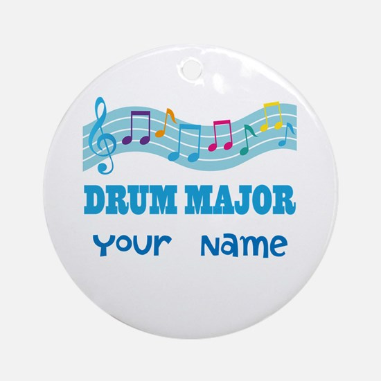 Personalized Drum Major Ornament (Round)