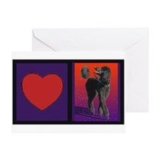 Poodle Love Greeting Card