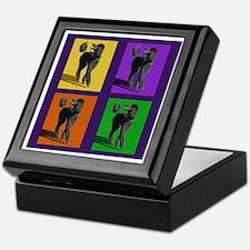 Poodle Pop Art Keepsake Box