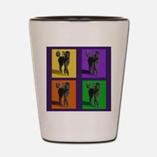 Poodle Pop Art Shot Glass