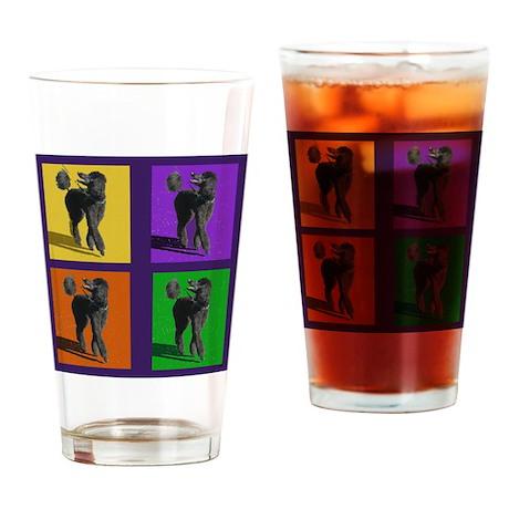 Poodle Pop Art Drinking Glass
