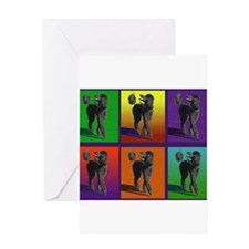 Black Poodle Greeting Card