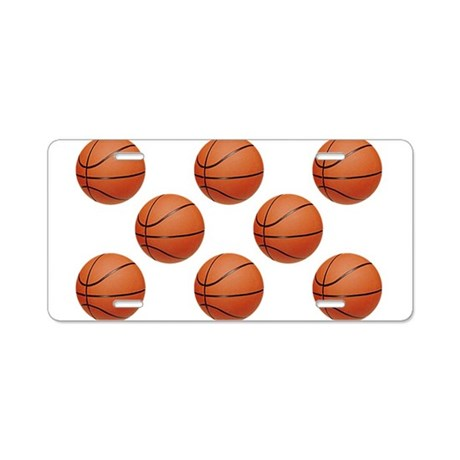 Basketball Aluminum License Plate