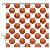 Basketballs shower curtain Shower Curtains