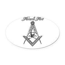 Memento Mori SC Oval Car Magnet