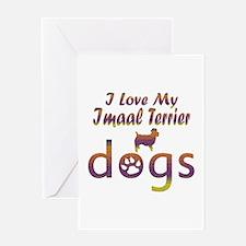 Imaal Terrier designs Greeting Card