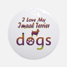 Imaal Terrier designs Ornament (Round)