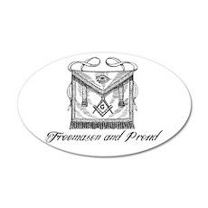 Freemason and Proud Wall Decal