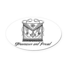 Freemason and Proud Oval Car Magnet