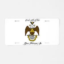 Scottish Rite Color Aluminum License Plate