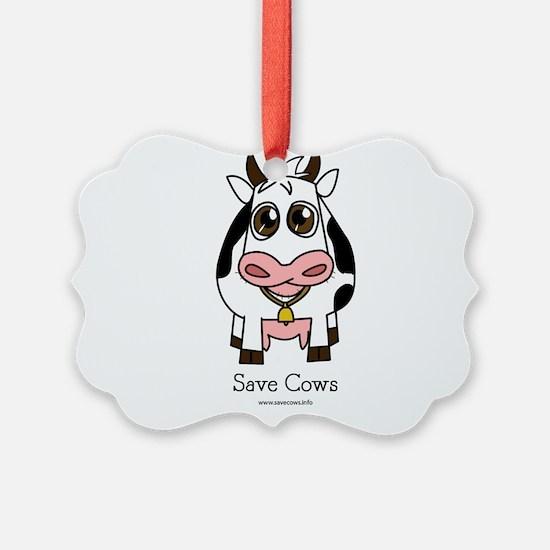 Save Cows Ornament