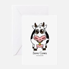 Save Cows Greeting Card