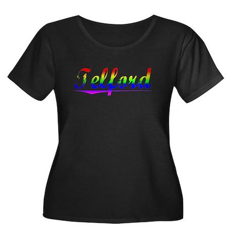 Telford, Rainbow, Women's Plus Size Scoop Neck Dar
