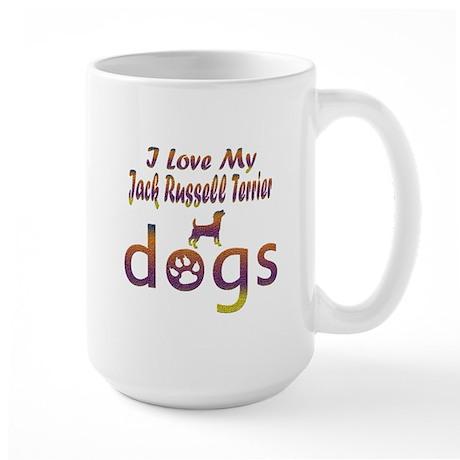 Jack Russel Terrier designs Large Mug