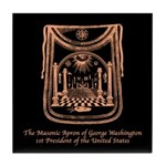 George Washington's Masonic Apron Tile Coaster