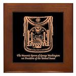 George Washington's Masonic Apron Framed Tile
