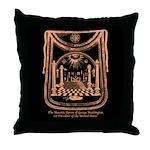 George Washington's Masonic Apron Throw Pillow