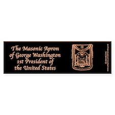 George Washington's Masonic Apron Bumper Bumper Sticker
