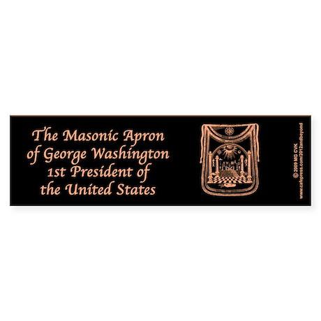 George Washington's Masonic Apron Bumper Sticker