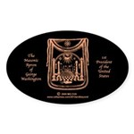 George Washington's Masonic Apron Oval Sticker