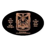 George Washington's Masonic Apron Sticker (Oval 50
