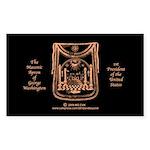 George Washington's Masonic Apron Sticker (Rectang