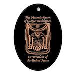 George Washington's Masonic Apron Oval Ornament