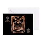 George Washington's Masonic Apron Greeting Card