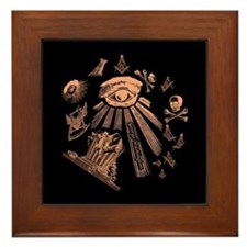 Masonic Fantasy Framed Tile