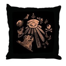 Masonic Fantasy Throw Pillow