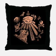 Masonic Fantasy Throw Pillow