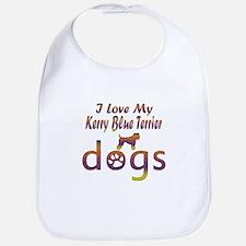 Kerry Blue Terrier designs Bib