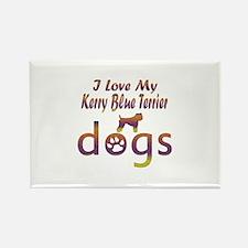 Kerry Blue Terrier designs Rectangle Magnet