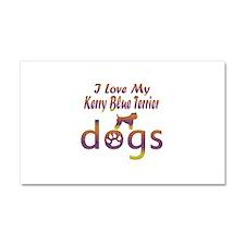 Kerry Blue Terrier designs Car Magnet 20 x 12