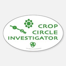 Crop Circle Investigator Oval Decal
