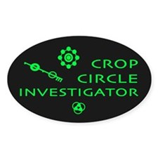Crop Circle Investigator Dark Oval Decal
