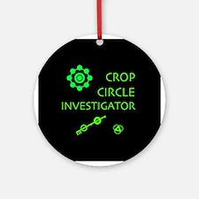 Crop Circle Investigator Ornament (Round)