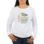 Crop Circle Inv V2 Women's Long Sleeve T-Shirt
