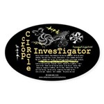 Crop Circle Inv V2 Oval Sticker (10 pk)