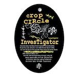 Crop Circle Inv V2 Oval Ornament