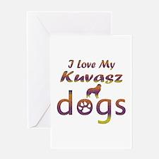 Kuvasz designs Greeting Card