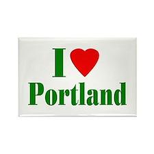 I Love Portland Rectangle Magnet (100 pack)