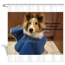 Hair Cut Neutering Shower Curtain