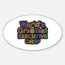 World's Greatest EXECUTIVE CHEF Oval Decal